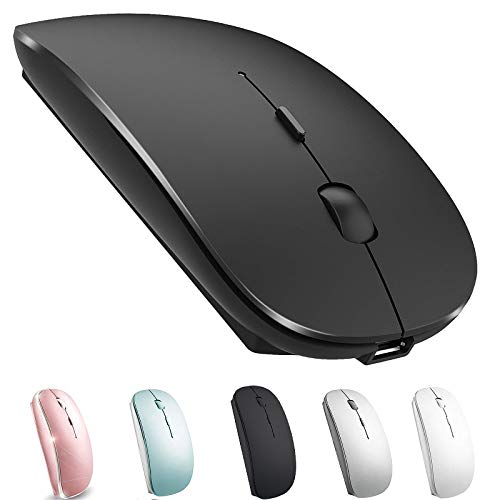 Rechargeable Bluetooth Mouse for Mac Wireless Bluetooth Mouse for MacBook Pro MacBook Air iOS Tablet /pro/Air/Mini Windows Notebook MacBook Chromebook (Black)