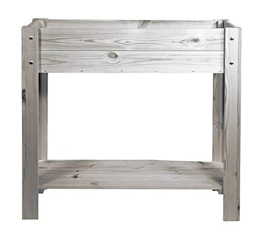 mgc24® Hochbeet - Kiefernholz anthrazit/grau rechteckig, extra schmal für Balkon - ca. 80 x 30 x 78 cm