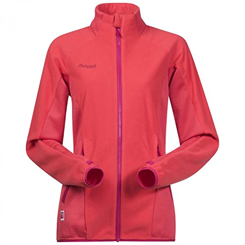 Bergans Damen Cecilie Fleecejacke, Strawberry/Bougainvillea, M
