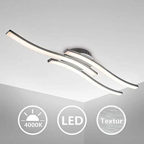 Lámpara de techo, Lampara Techocon 3 Placas de Luz LED, Lamparas de Techo,3x 6W LEDs de integrados Blanco Neutro 4000K,...