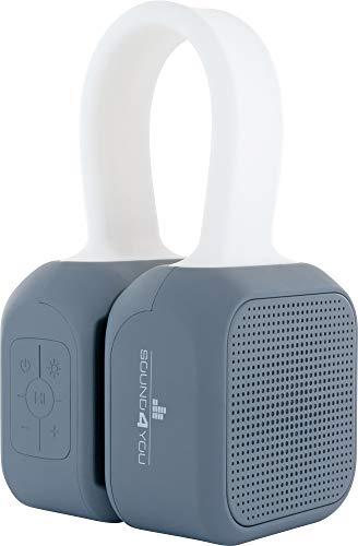 SCHWAIGER -661699- Bluetooth Lautsprecher 2x5 W IPX5 wasserfest, tragbar mit 1500 mAh Akku wiederaufladbar, mit Leuchtband und Magneten, TWS Stereo