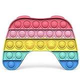 Bdwing Silicona Sensorial Fidget Juguete, Push Pop Bubble Sensory Toy, Autismo Necesidades Especiales Aliviador del Antiestrés del Juguetes para Niños Adultos Relajarse (Macaron Gamepad)