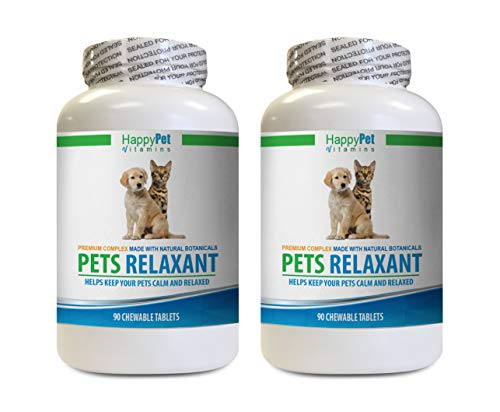 Natural Anti Anxiety for Cats - PET Relaxant - Made for Dogs and Cats - Natural Anxiety and Stress Relief - Mood Boost - Best Formula - l tryptophan for Cats - 2 Bottles (180 Treats)