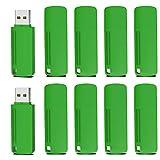 Memoria USB 4GB 2.0, KOOTION Pen Drive Flash Drive USB Pendrives, Pack de 10 Unidades Pen USB Stick, Set 10 Piezas Flash USB 2.0, Verdes