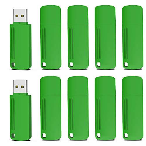 Chiavetta USB 16GB 2.0 KOOTION 10 Pezzi Chiave USB 16GB Pendrive 16Giga 2.0 Penna USB 10 Pack Chiavette USB, Set 10 Unità Pennetta USB Pen Drive Chiavi USB Flash Drive Memory Stick (Verde)