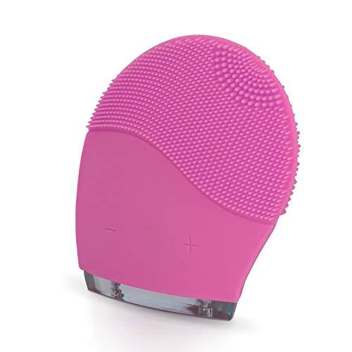 IKOHS Limpiador facial HADA - Cepillo Facial de Silicona, Rejuvenece la Piel, Masajeador, para todo tipo de pieles, Tecnología Vibración Sónica, Protección contra el agua IPX5, Recargable USB (Rosa)