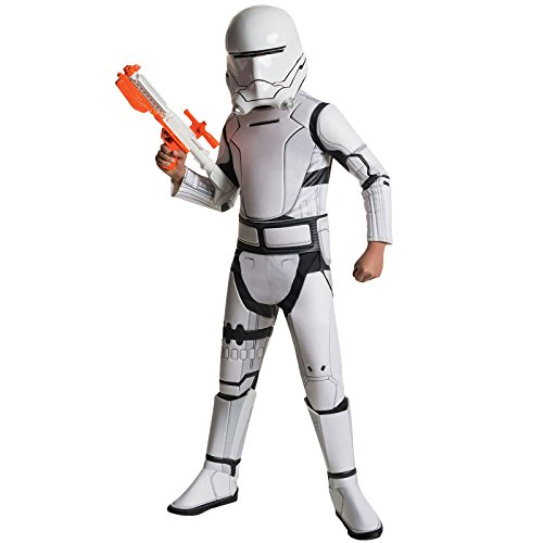 Star Wars 7 Costume Enfants flametrooper Deluxe Masque Ceinture Globale 3 pièces Blanc - Blanc - Moyen