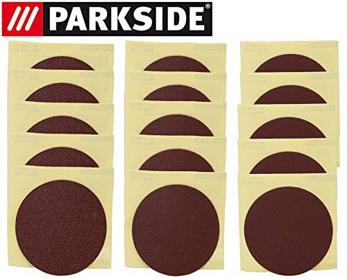 Set di fogli abrasivi per levigatrice a disco Parkside ESG PTSG 140 B2 – LIDL IAN 290842 5 X K80 + 5 X K150 + 5 X K240 + 5 X pellicola di conservazione