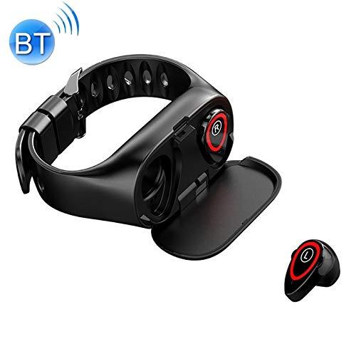 QYGGGsmart horloge smartwatch M1 0,96 inch TFT-kleurenscherm IP67 waterdicht intelligente Bluetooth hoofdtelefoonarmband, ondersteuning Call Reminder/andere functies/bloeddrukmeting/slaapmonitor (Sc, rood