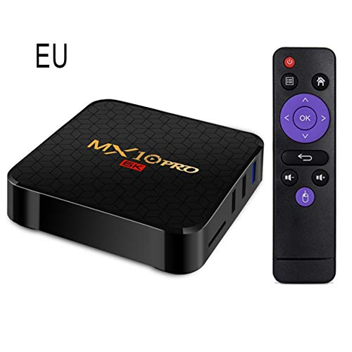 Mx10 Pro H6 Android 9.0 Smart Network Player Red doméstica Media Plug and Play Reproductor Multimedia Reloj Internet TV Negro