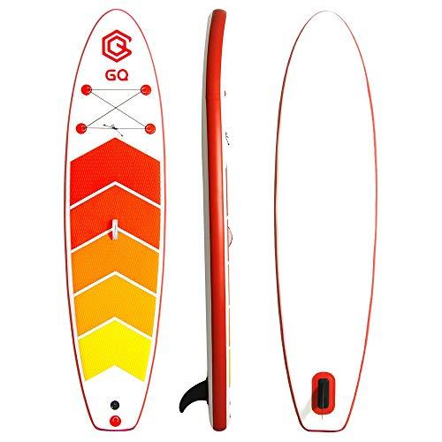 JIAGU Tabla de Surf Paddle Board 305x76x15cm Inflable Sup Conjunto Ideal for Todos Los Niveles Incluye Kit De Accesorios (Color : Red, Size : 305x76x15cm)