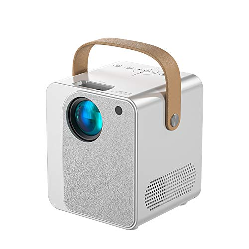 LITINGT Proyector Y9 CP350, Mini proyector Inteligente portátil Compatible con el proyector de Alta definición 1080P para el hogar, Compatible con teléfono móvil, Tableta, TV