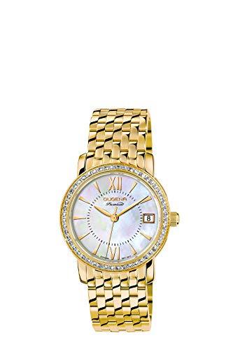 Dugena Damen Analog Quarz Uhr mit Edelstahl Armband 7590157-1