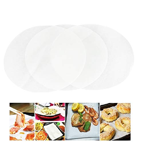 (Set of 100) Non-Stick Round Parchment Paper 6 Inch Diameter, Baking Paper Liners for Round Cake Pans Circle