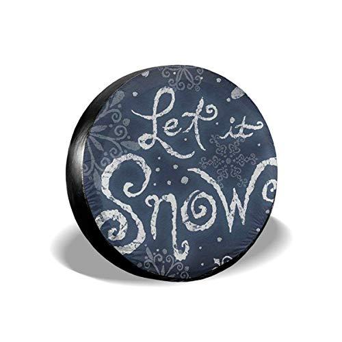 Copertone Pneumatico Ruota di scorta Invernale Let It Snow Welcome 16 ''