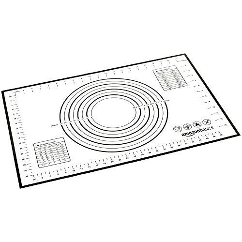 Amazon Basics - Tapete de silicona para amasar y hornear 60 x 40 cm