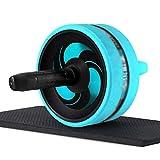 Ab Roller Wheel Bauchübungsrolle mit Kniematte Silent Anti-Skid Ab Wheel Roller, Bauch-Heimtrainer...