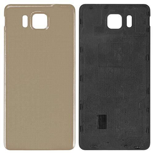 Carcasa de batería trasera de repuesto de piezas de repuesto compatibles con Samsung G850F Galaxy Alpha, (dorado)