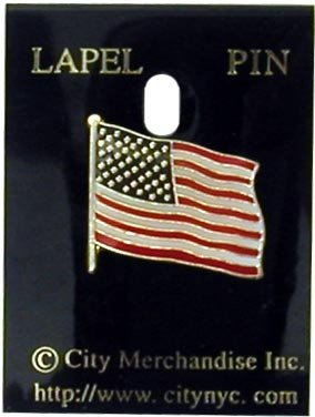 USA Company Official American Flag USA Lapel Pin in Holder