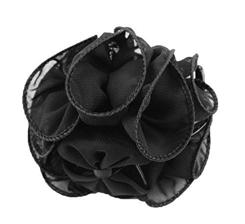 Unbekannt Damen Chiffon Haarschmuck Haarkrebse Haarspange Haarklammer Kopfschmuck (HK013) Schwarz