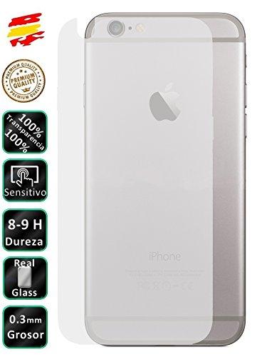 Movilrey Protector para Apple iPhone 6 Plus Trasero Cristal Templado de Pantalla Vidrio 9H para movil