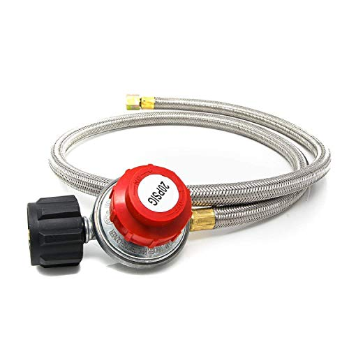 Gas One 2113 0-20PSI Propane Regulator with Hose 4 ft