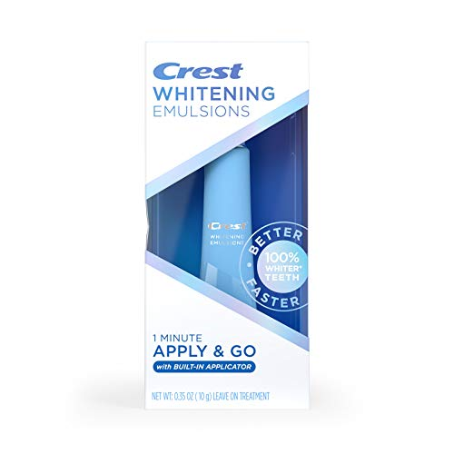 Crest Whitening Emulsions On-the-Go Leave-On Teeth Whitening Pen, 0.35 Oz (10 G), 0.35 ounces