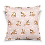 Funda de almohada decorativa cuadrada con diseño de corazón de dibujos animados, para sofá cama, funda de almohada de doble cara, 30,5 x 30,5 cm