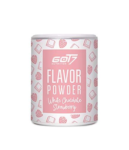 Got7 Flavorpulver Flavorsystem Flavor Powder Aroma für Quark Eiweißshake Joghurt 150g (Strawberry White Choco - Erdbeere Weiße Schoko)