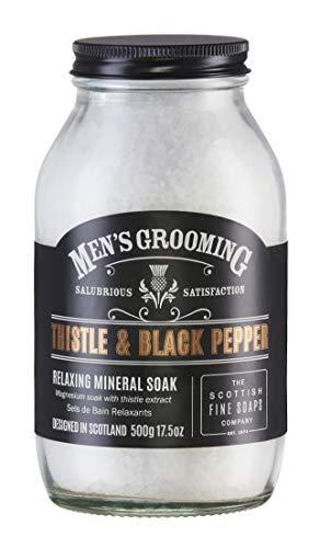 Men's Grooming by Scottish Fine Soaps Thistle & Black Pepper Relaxing Mineral Soak 500g
