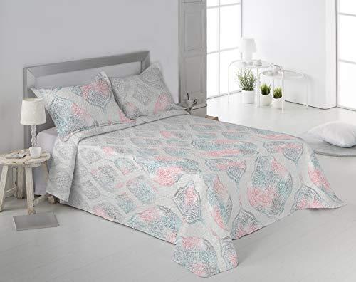 Secaneta Stilia sprei voor de lente/zomer, met bijpassende kussens, kristal, 180 x 270 cm, voor 90 cm bed, meerkleurig, 180 x 270 cm