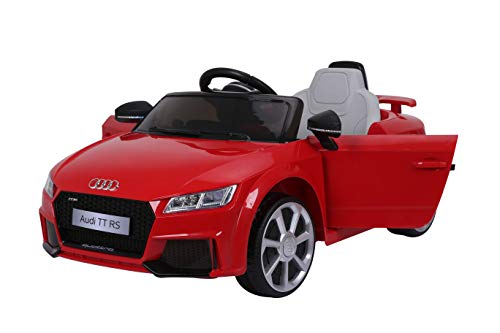 AUDI TT RS Lisenced Battery Powered Kids Electric Ride On Toy Car RED