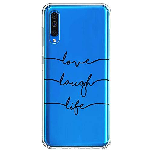 Miracle Girl Funda compatible con Samsung Galaxy A70 TPU Goma Teléfono Móvil Transparente antigolpes, Ultra Slim Fit Antideslizante Mármol Carcasa de silicona para Samsung Galaxy A70 3 Talla única