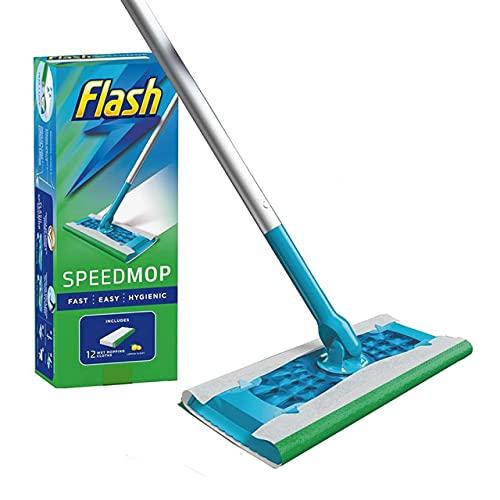 Flash SpeedMop Starter Kit, Mopa + 12 almohadillas de recambio absorbentes, Fresh
