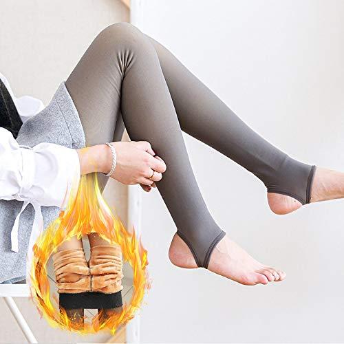 Leggings Casuales De MujerLeggings De Moda para Mujer, Mallas Gruesas De Terciopelo Cálido De Malla De Cintura Alta, Mal