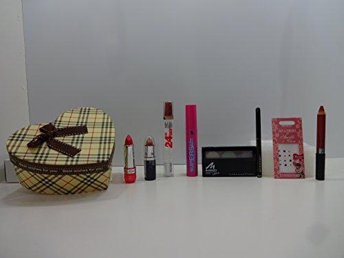 Luxe 8PC Maquillage Beauté Boîte cadeau Ensemble cadeau Mix marques dans une boîte cadeau.