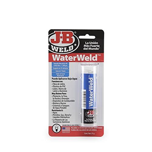 J-B Weld 8277SPA - Masilla - Bicomponente - Fuga de líquidos - Resina - Epoxi - Hogar - Fontanería - Cisternas - Depósitos - Reparaciones - Múltiples superficies - 57gr