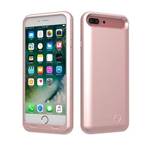 TAMO EDGE 4000 mAh Dual-Purpose Ultra-Slim Protective Extended Battery iPhone 7 Plus Case, Rose Gold (Premium Retail Packaging)