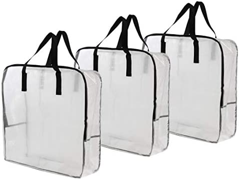 Earthwise Extra Large Clear Storage Bag Moving Totes for Clothing Storage Closet Organizer Space product image