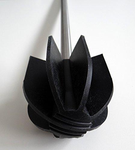 Lotus Silikon WC Bürste - borstenlos – schwarz oder transparent (schwarz)