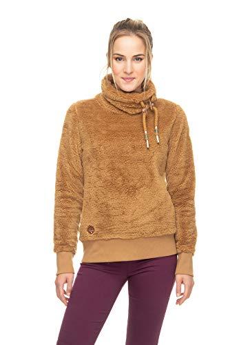 Ragwear Menny dames vrouwen sweatshirt, trui van teddy fleece, veganistisch