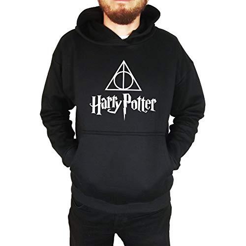Moletom Unissex Canguru Harry Potter Preto Tamanho:P
