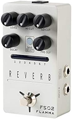 FLAMMA FS02 Reverb Pedal Stereo Digital Guitar Pedal with 7 Storable Preset Slots Room Hall product image