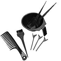 髪染めボウル、理髪キット髪染めコーム8ピース耐久性のあるヘアクリップ、髪サロンホームパーソナルサロン用