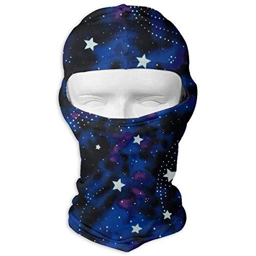 ALaze Galaxy Stars Magic Glow in The Dark Sports de Plein air Crème Solaire Coupe-Vent et poussière Cou Guêtre Tube Oreille Warmer Balaclava Bandeau