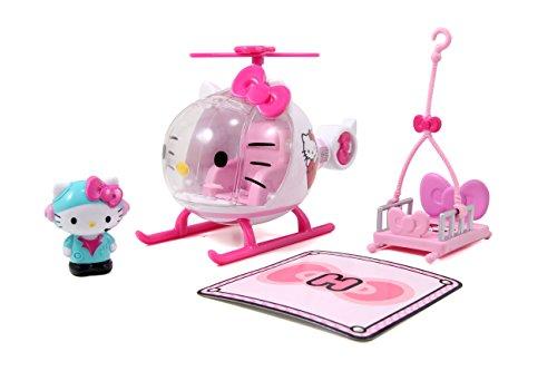 Dickie Hello Kitty - Helicóptero con Figura de Hello Kitty y Camilla Extraíble, para Niños a partir de 3 Años - 17,5 cm