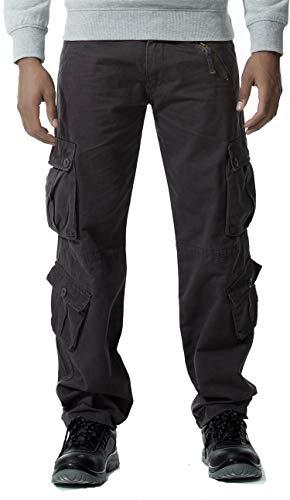 Gmardar Camouflagebroek voor heren, outdoorbroek, cargobroek, katoen, militair cargobroek, joggen, wandelen, outdoor, camping, sportbroek met veel zakken en zijzakken
