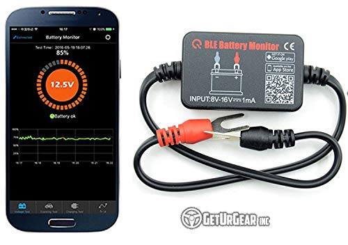 GetUrGear Inc. Bluetooth 4.0 12v Car Battery Remote Monitor with App