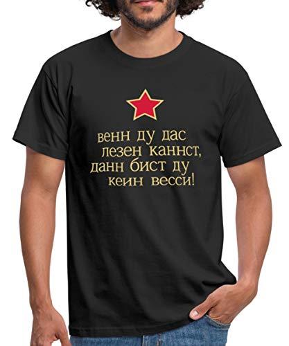 Kein Wessi Russisch Lesen Männer T-Shirt, 3XL, Schwarz