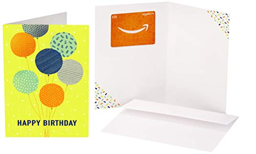 Amazon.co.uk Gift Card - In a Greeting Card - £50 (Birthday Balloons )